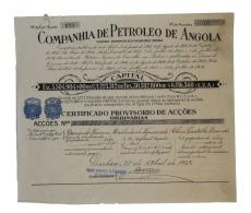 Share - Companhia De Petroleo De Angola - 45$00 1927 - Magazines: Subscriptions