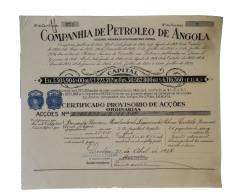 Share - Companhia De Petroleo De Angola - 22$50 1927 - Magazines: Subscriptions