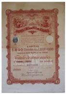 Share - Companhia Do Sul De Angola - 500$00 1920 - Magazines: Subscriptions