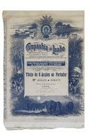 Share - Companhia Do Luabo - 22$500 1910, RARE - Magazines: Subscriptions