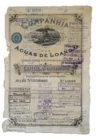 Share - Comp. Das Aguas De Loanda - 45$000 1890 - Magazines: Subscriptions