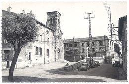 Cpsm St Priest En Jarrez - L'église Et La Place ( Renault 4 CV ) - France