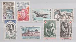 FRANCE 1973 8 TIMBRES (YT) COLIGNY RENAN AIRBUS CIGOGNES GIEN CROIX ROUGE SEPULCRE DE TONNERRE - France
