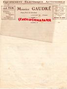86- LOUDUN- FACTURE MAURICE GAUDRE- EQUIPEMENT ELECTRIQUE AUTOMOBILE- STOCK TEM- PLACE PORTE DE MIREBEAU-1930 - Cars