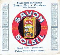 BUVARD-CALENDRIER Publicitaire De 1924 - SAVONNERIE-PARFUMERIE PIERRE NEY -VERVIERS - Savon En Poudre Soleil Savon PALMA - Produits Ménagers
