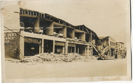 Real Photo Santa Barbara Earth Quake Buildings Damaged Tremblement Terre - Santa Barbara