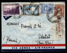 A4686) Argentina Argentinien R-Brief Von Buenos Aires 21.01.39 Nach Frankreich - Argentinien