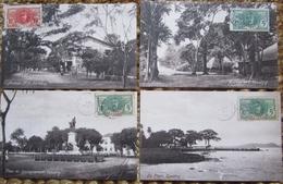 Guinée Française Lot 5 Cpa  Conakry   Cpa Timbrées - Guinea