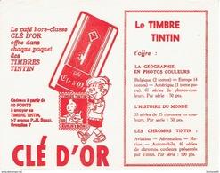 BUVARD Publicitaire CAFE CLE D'OR Avec TIMBRE TINTIN - Café & Thé