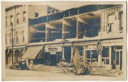 Real Photo Santa Barbara Earth Quake Buildings Damaged The Tire Spot   Tremblement Terre - Santa Barbara