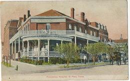El Paso Texas Providence Hospital  P. Used El Paso 1907  Edit Orndorff - El Paso