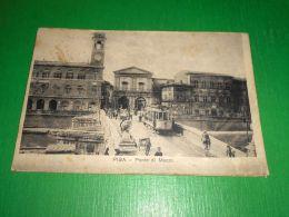 Cartolina Pisa - Ponte Di Mezzo 1917 - Pisa