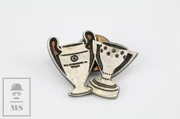 F.C. Barcelona Football Team Cups - Champions League & National League - Pin Badge - Fútbol