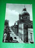 Cartolina Barletta - Via Milano 1955 - Bari
