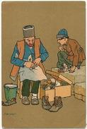 Caucase Armenia Art Card Signed Shoe Maker Cordonnier - Arménie
