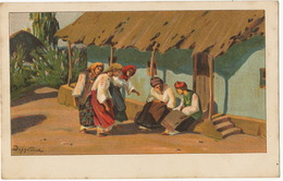 Caucase Armenia Russian Red Cross Art Card Signed - Arménie