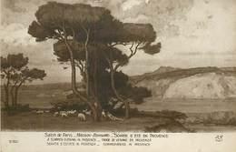 TC-D-17-187 : SALON DE PARIS. MAGNAN BERNARD SOIREE D ETE EN PROVENCE - Peintures & Tableaux