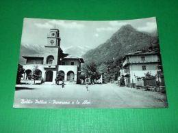 Cartolina Bobbio Pellice - Panorama E Le Alpi 1963 - Italie