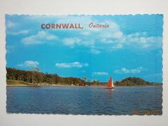Postcard Cornwall Ontario Lake For Swimming Water Skiing Boating & Fishing Used 1975 My Ref B11226 - Ontario