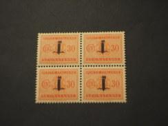 REPUBBLICA SOCIALE - R.S.I. - 1944 STEMMA 30 C.in Quartina(block Of Four) - NUOVO (++) - Postage Due