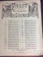 Partition : Faust, Gounod - Ballade Du Roi De Thulé & Air Des Bijoux (Choudens Ed.- 6 Feuillets - Début Du Siècle Dernie - Opera