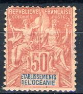 Oceania 1892 N. 11 C. 50 Rosa MH Cat. € 22 - Unused Stamps