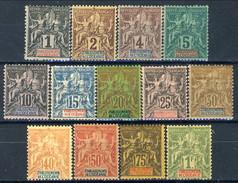 Oceanie 1892 Serie N. 1-13 MLH LUX Cat. € 360 - Unused Stamps