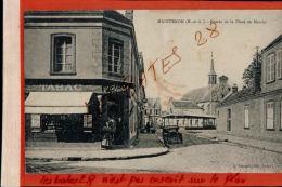 CPA 28 Maintenon Entrée De La Place Du Marché   Tabac Buvette Henri Blechet  AV Mai 2017 421 - Maintenon