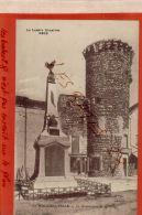 CPA  48 LA MALZIEU-VILLE   Le Monument Et La Tour  Lozère AV Mai 2017 429 - Autres Communes