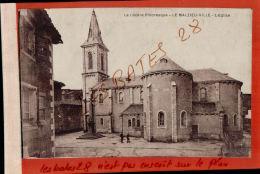CPA  48 LA MALZIEU-VILLe   L'EGLISE    2 Petits Personnages   Lozère AV Mai 2017 431 - Autres Communes