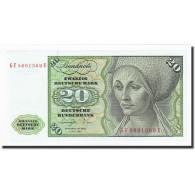 République Fédérale Allemande, 20 Deutsche Mark, 1970-1980, KM:32b - [ 7] 1949-… : RFA - Rep. Fed. Tedesca
