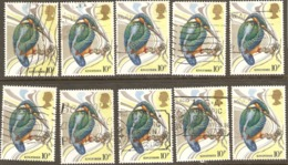 Great Britain 1980 SG 1109 10p Kingfisher Good Sound Used X10 - Vrac (max 999 Timbres)