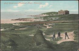 Golf Links And Headland Hotel, Newquay, Cornwall, C.1905-10 - Valentine Postcard - Newquay