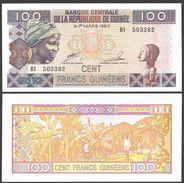 Guinea 100 FRANCS 2012 P 35 UNC - Guinée