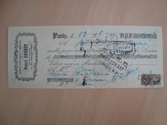 CHEQUE BRONZE D'ART ANCIEN & MODERNE HENRI CHODOT PARIS 1927 - Chèques & Chèques De Voyage
