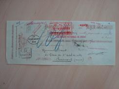 CHEQUE FABRIQUE D'HORLOGERIE JOAILLERIE LEON HATOT PARIS 1927 - Chèques & Chèques De Voyage