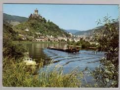 Cochem / Mosel , Moselidyll Mit Blick Zur Burg Cochem - Cochem