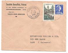 OBLITERATION MANUELLE DE CARCAGNY (CALVADOS) 1958 - Marcofilia (sobres)