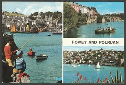 Multiview, Fowey And Polruan, Cornwall, 1968 - John Hinde Postcard - England