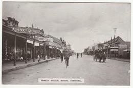 Market Avenue, Benoni, Transvaal, South Africa, C.1910 - Prankerd's RP Postcard - South Africa
