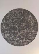 CHRISTOPHER  WARREN, Sculpteur  Franco-britannique - Noir Rond - Acrylique Sur Toile - 2014 - 90 X 110 Cm - Acrilici