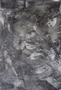CHRISTOPHER  WARREN, Sculpteur  Franco-britannique -  Matière Noire - Acrylique Sur Toile - 2014 - 20 X 30 Cm - Acryliques