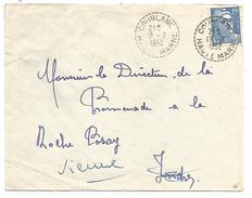 OBLITERATION MANUELLE DE COUBLANC (HAUTE MARNE) 1952 - Marcofilia (sobres)