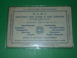 Cartolina Pubblicità SAMI Sartoria Uomo Donna - Casale Monferrato 1930 Ca - Pubblicitari
