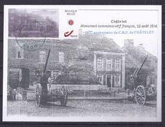 CM Avec DUOSTAMP Du 75ème Anniversaire Du Cercle Royal Philatélique De Châtelet - Maximum Cards