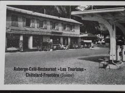 """CHÂTELARD-FRONTIERE (Valais, Suisse) - Carte De Visite - Auberge Café-Restaurant """" Les TOURISTES """" - A Voir ! - Cartes De Visite"""