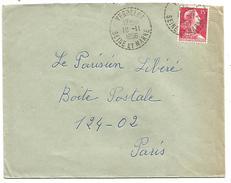 OBLITERATION MANUELLE DE VERDELOT (SEINE ET MARNE) 1956 - Marcofilia (sobres)