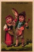 4Trade Cards Chromos Music Instr Violin Violon  Pub  Chicoree Sans Rivale Berlot Auxerre La Kabiline Ape Saxophone Litho - Autres