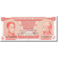 Venezuela, 5 Bolivares, 1989, 1989-09-21, KM:70b, NEUF - Venezuela