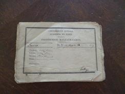 Bulletin 1827 Institut Hallays Dabot Paris 16 Pièces - Historische Documenten